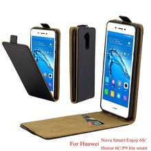For Huawei Nova Smart Cover Luxury PU Leather Flip Case Honor 6C Vertical Open Down Up Cover for Huawei enjoy 6S P9 Lite Smart цена