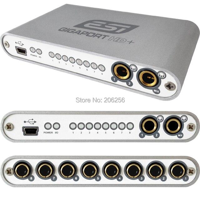 dfcba8ca29c ESI gigaport HD + Высокое качество 24-бит 8-выход USB аудио Интерфейс 8