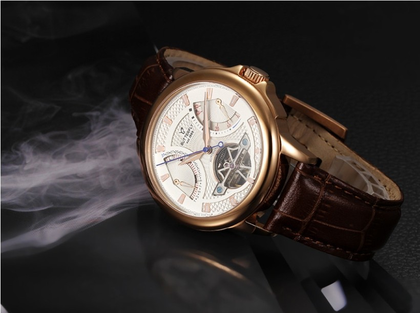 feaa5a2107d Luxury Brand Butterfly Men Automatic Dress Watches Tourbillon Self Wind  Analog Clock Real Leather Sapphire Relojes 3ATM NW1534-in Mechanical  Watches from ...