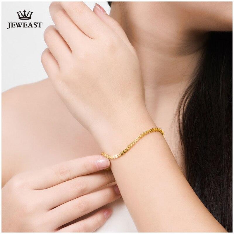 18 k puur goud vrouwen armband gele roos meisje echte echte solide - Fijne sieraden - Foto 5