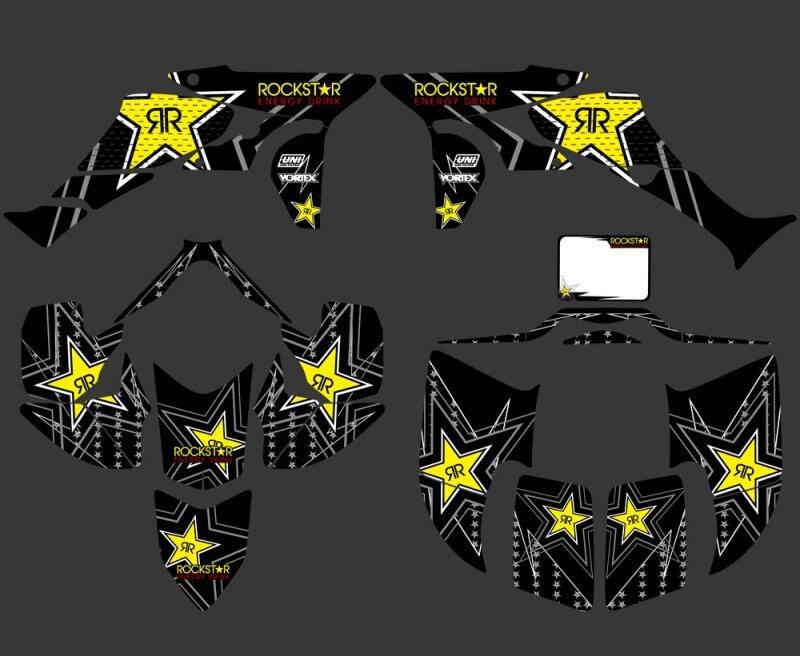 0347 étoile noire nouveau STYLE autocollants Kits graphiques adaptés pour Honda TRX450R TRX 450R fourtrax ATV TRX 450 R