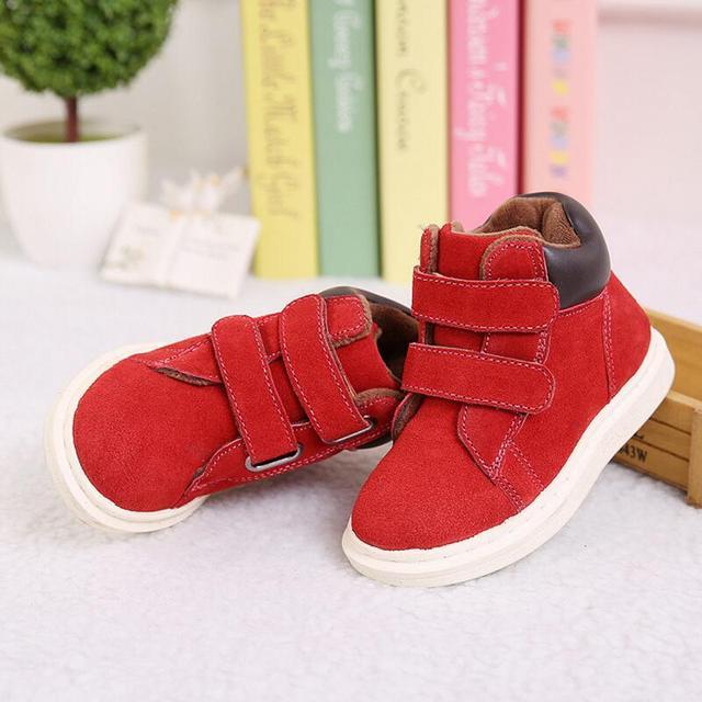 Niños Botas de Martin Botas de Invierno 2016 Niños de Lana de Coral Para chica Zapatos Con Suelas De Goma De Los Niños Botas Zapatos de Los Niños tamaño