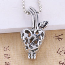6pcs Silver Plated apple Pearl Cage (China)