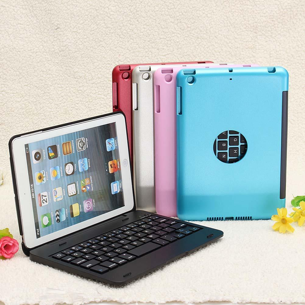 Newest Waterproof Dustproof 2 in 1 Bluetooth 3.0 Wireless Keyboard Foldable Cases Stand Cover Holder for iPad Mini 1 2 3