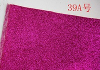 39A Hot Pink Synthetic PVC Glitter Leather Vinyl Fabric Material