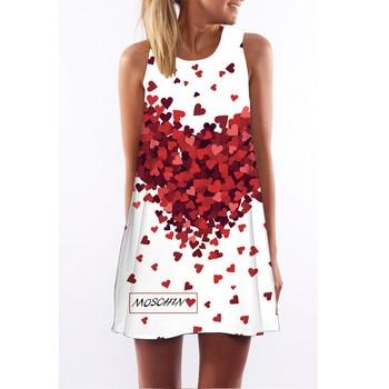 Women Dress 2018 Summer New Sleeveless O-neck Dress