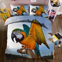 3D Parrot bedding bed sheet set bedclothes Super king duvet cover sets