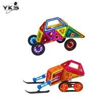 YKS 46-168 pcs Mini Magnetic Modelo Set & Kit de Construção De Plástico Blocos de Construção de Brinquedo Brinquedos Educativos Para Crianças caçoa o Presente