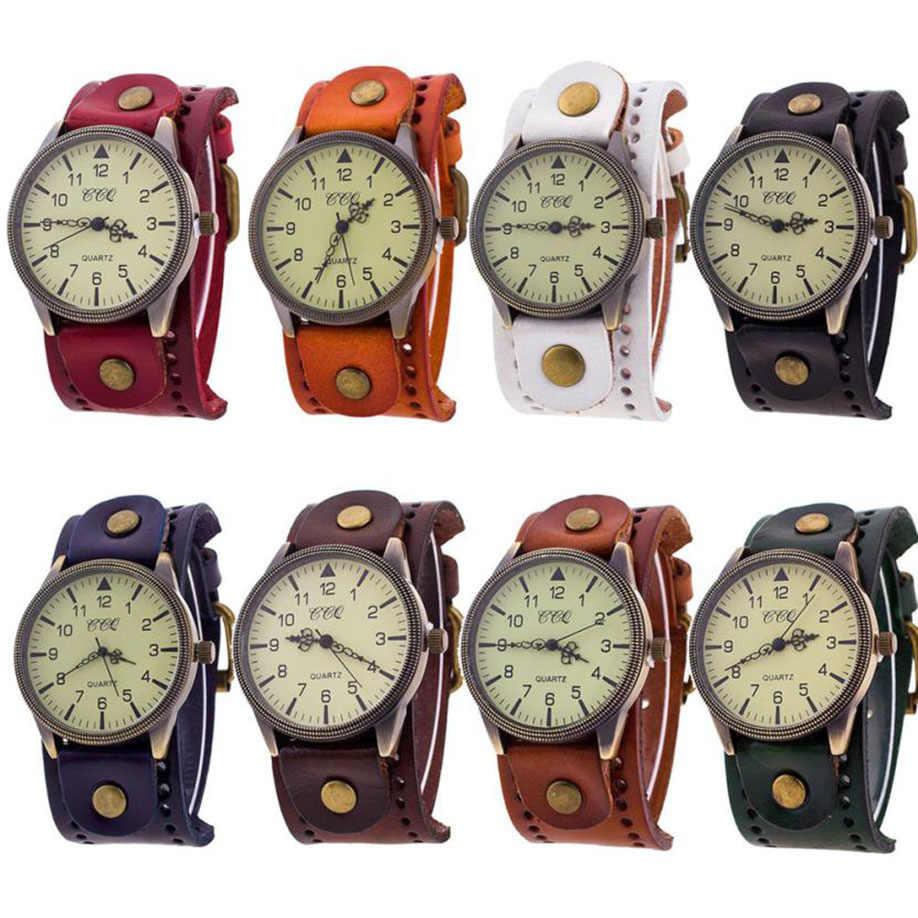 d4095948e5d ... Relogio Masculino Felojes Saat CCQ Элитный бренд Винтаж кожа часы для  мужчин для женщин наручные часы ...
