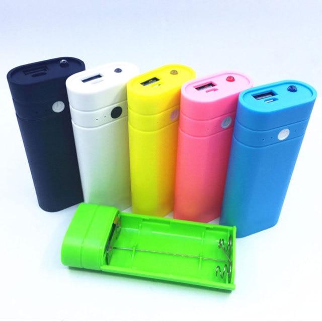 Thời Trang mới 5600 mah Mini Dễ Thương Cổng USB 2X18650 Battery Charger Chủ Ngân Hàng Điện Hộp Shell Trường Hợp DIY kit