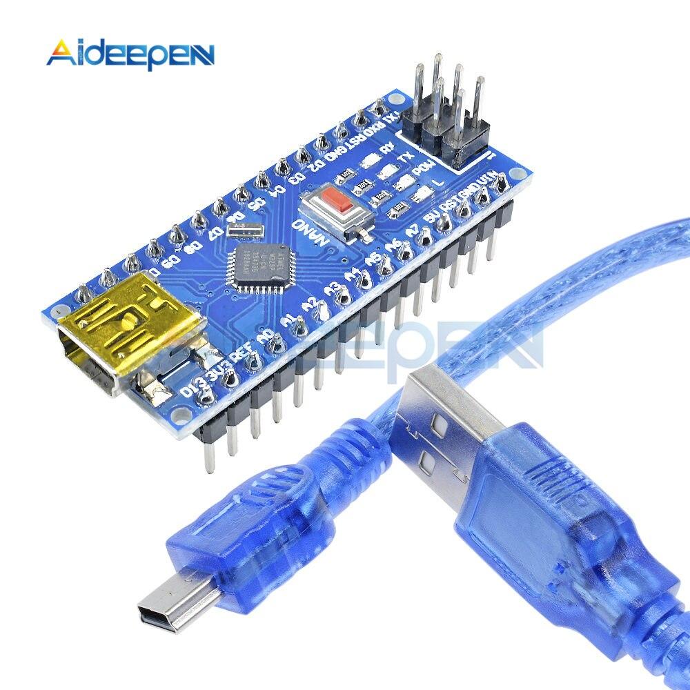 Nano 3,0 Mini USB Fahrer ATmega328 ATmega328P 5V 16M Micro Controller Board Nano CH340 Für Arduino Usb Kabel ersetzen FT232RL ISP
