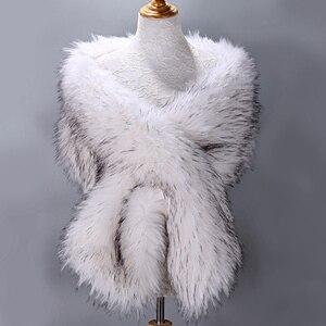 Image 5 - 毛皮フェイク冬ボレロ女性ブライダルショールの結婚式の岬証券ブライダルマント結婚式のイブニングパーティー