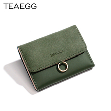 TEAEGG Women Wallets Small Fashion Brand Leather Purse Woman