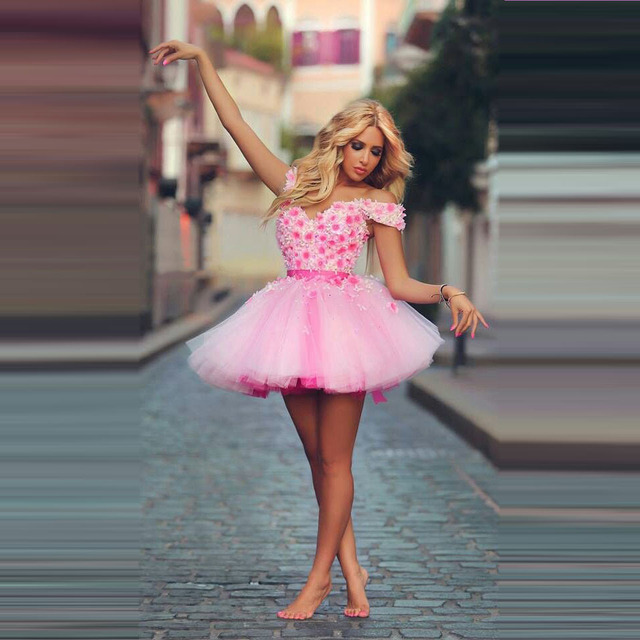 Dubai Tendencia Pink Short Prom Vestido de Novia de Escote Cap Manga ...
