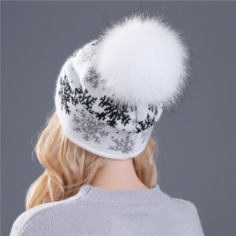 xthree реального норки помпоны шерсть кроличий мех вязаная шапка skullies в зимняя шапка для женщин девочек шляпа женщин шапочки шляпа