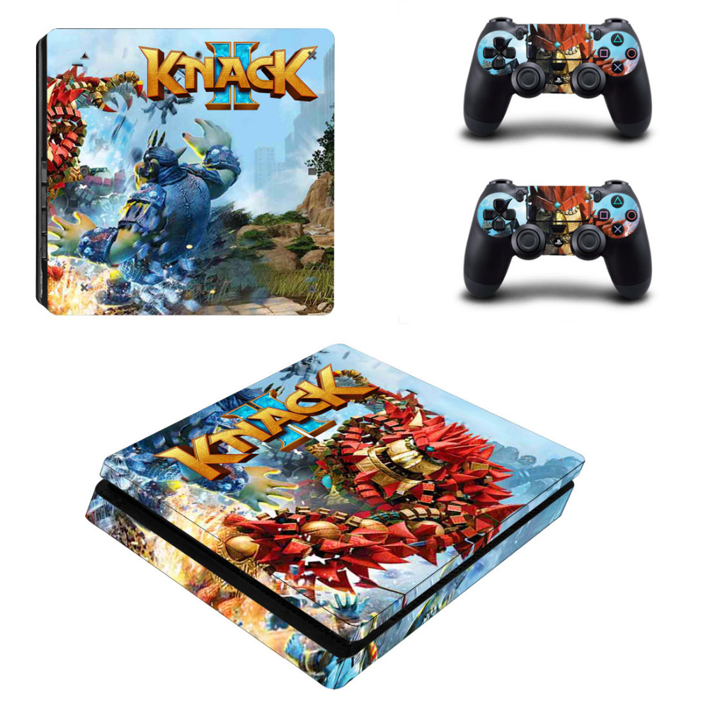 Game Knack 2 PS4 Slim Skin Sticker Decal for Sony PlayStation 4 Console and Controller PS4 Slim Skins Stickers Vinyl Accessories