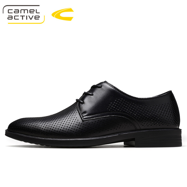 5090bf66cd0 Camel Active Hot Sale Men s Shoes Genuine Leather Holes Design Breathable  Shoes Spring Autumn Business Men Sapatos Masculinos