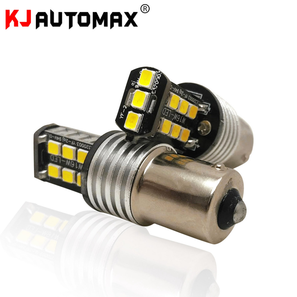 2pcs Amber Yellow BAU15S 7507 PY21W 1156PY LED Bulbs 15-SMD 2835 LED For Front Rear Turn Signal Lights for Most Janpanese Cars 2pcs canbus bau15s py21w error free 1156py amber yellow 36 led 5730smd 7507 bulbs indicator front rear turn signal light