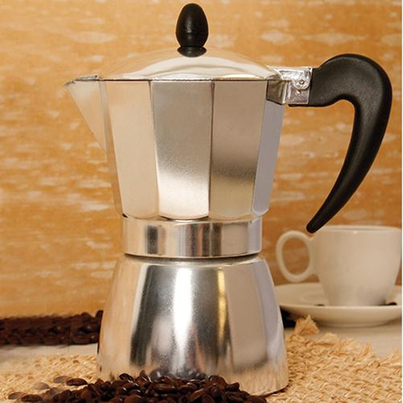 Brand New 6 Cup Stainless Steel Moka Espresso Latte