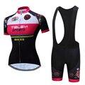 Лето 2019, женская форма для велоспорта с коротким рукавом, женский комплект одежды для велоспорта, одежда для горного велосипеда, Джерси, гел...