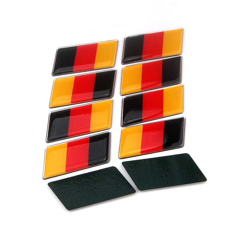 10pcs Aluminum Germany German Rear Emblem Badge Sticker for MK7 MK6 Golf Car Styling Car Stickers Auto accessories Car-cover