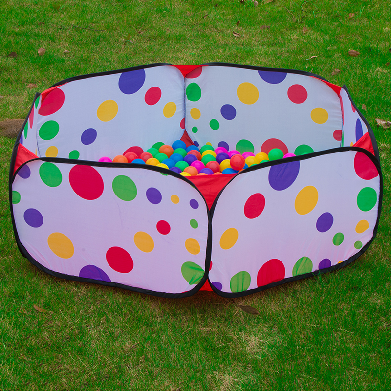 Cartoon Polka Dot Pop up Inflatable Ball Pool Folding Kids Hexagon Playpen Balls Pit Pool Outdoor Ball Pool Childrens Tents