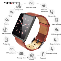 SANDA CK19 Smart Men/Women Sport Watch Heart Rate Digital Wristwatches IP67 Waterproof Dress Watches Montre Homme