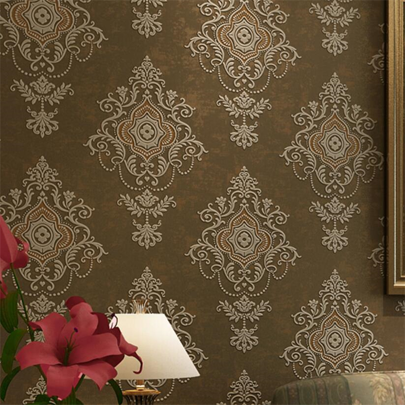 Beibehang papel de parede  3d wallpaper 3d relief  luxury European classic embossed home interior wallpaper for walls 3 d beibehang deep embossed 3d relief