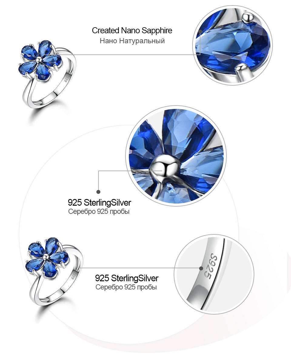 UMCHO Created Nano Sapphire 925 sterling silver rings for women EUJ091S-1-pc (7)