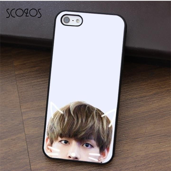 SCOZOS BTS V kim taehyung phone case for iphone X 4 4s 5 5s Se 5C 6 6s 7 8 6&6s plus 7 plus 8 plus #fa163