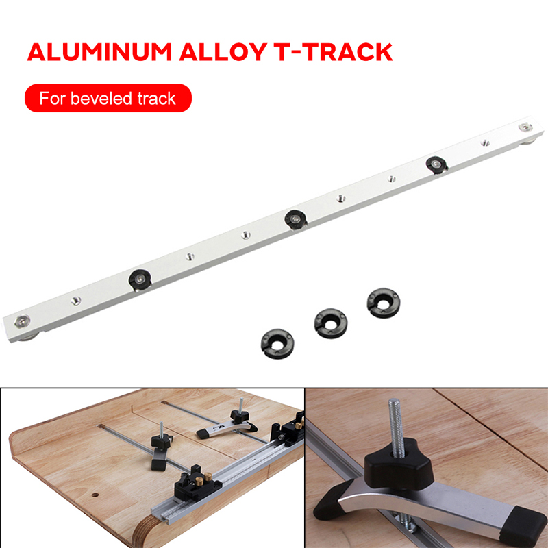 Metal Silver Miter Tool Bar T Tracks Chute Hardware Pusher Beveled Track Modification Woodworking Durable Portable Limit