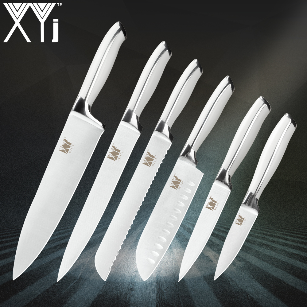 Cooking Kitchen Knives XYj High Grade Stainless Steel Knife Hot Style 8, 8, 8, 7, 5, 3.5 inch Quality Kitchen Knife 6 Piece Set Cooking Kitchen Knives XYj High Grade Stainless Steel Knife Hot Style 8, 8, 8, 7, 5, 3.5 inch Quality Kitchen Knife 6 Piece Set