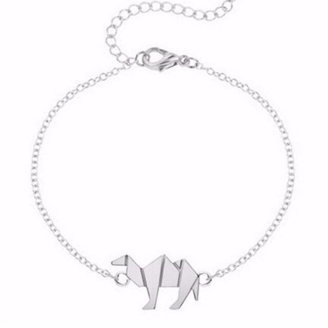 Bransoletka minimalistyczna wielbłąd dwa kolory