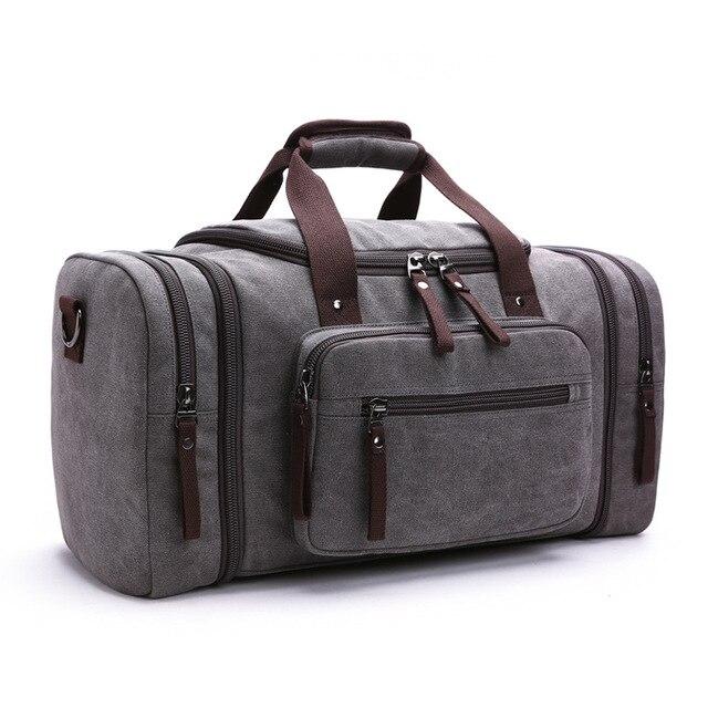 MARKROYAL Мужская парусиновая дорожная сумка мужской большой Ёмкость дорожные сумки ручной клади Сумка ночь дропшиппинг - Цвет: Dark gray
