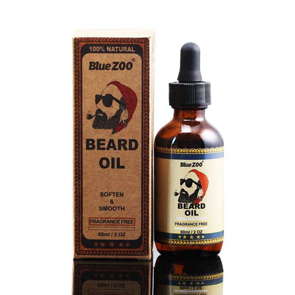 BlueZOO 100% Natural Beard Oil For Men,Leave In Conditioner And Softener For Grooming, Styling, And Shaping (60ml)