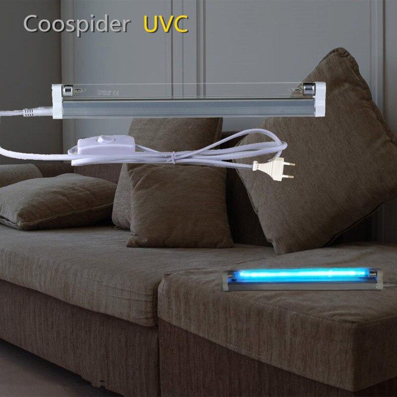 T5 lineare quarzo germicida UVC Luce della lampada Della Lampadina del Tubo di Ozono Sterilizzazione Disinfezione A Raggi Ultravioletti Uccidere Gli Acari Della Polvere 4W 6W 8W