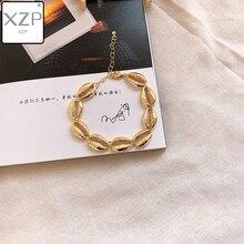 XZP Summer BOHO Jewelry Gold Color Bangle Korean Fashion Conch Shell Unlimited Charm Adjustable Bracelet Women Pulseras Mujer