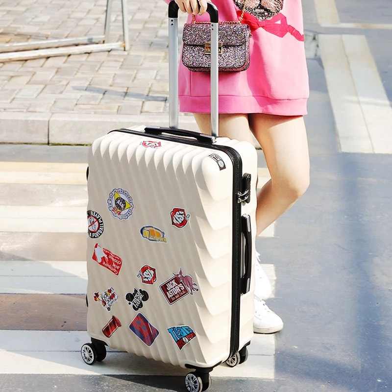 2018 New Creative Student Rolling Luggage Spinner Women Trolley Suitcase Wheels Mala 20 Inch Carry On Travel Bag Hardside Trunk