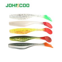 JOHNCOO Fishing Lure Soft Bait 6pcs 9cm 5.3g Soft Worm Silicone Bait Swimbait Bass Shad Wobbler