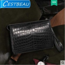 Cestbeau has a whole leather Nile crocodile belly purse hand bag large capacity wallet for men
