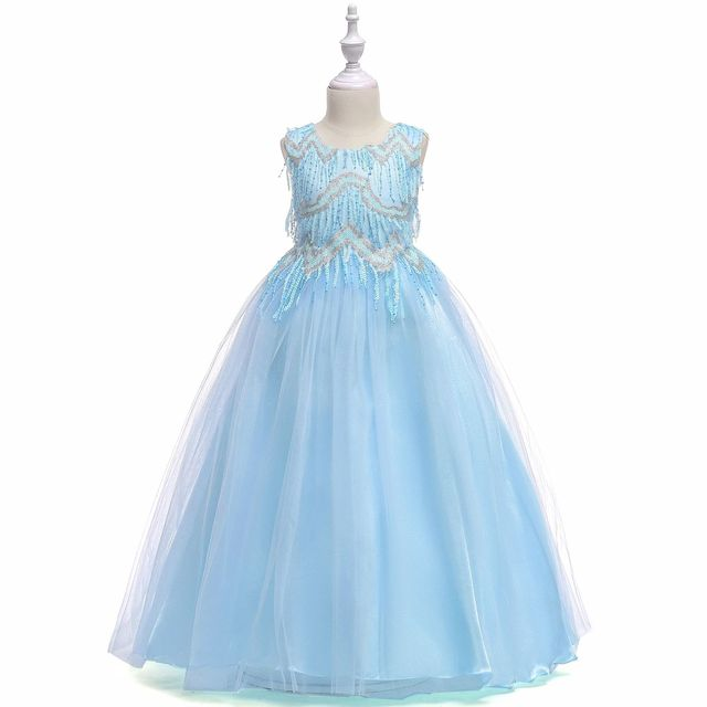 199c54878b0 SISTERS Hot style in Europe and the amazon princess dress Girls dress  sequins lace dress cuhk TongPengPeng