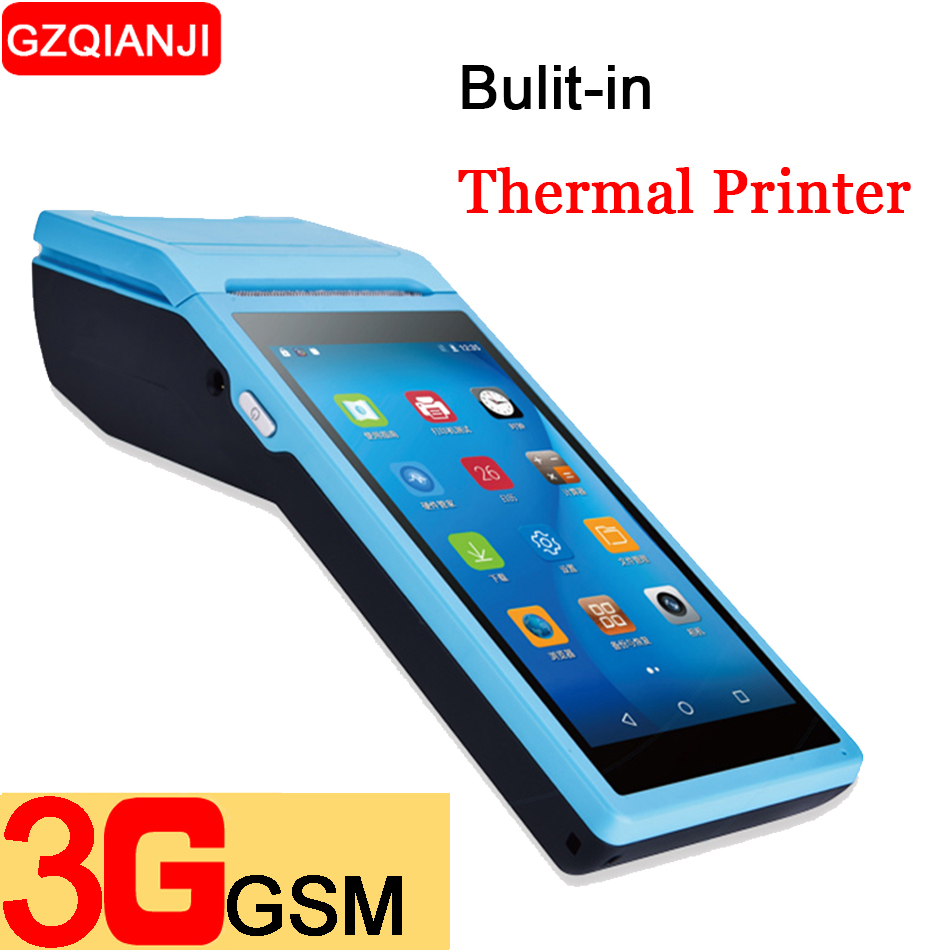 PDA Android 6.0 Cellulare Palmare Terminale POS Pos Stampante Termica 58mm macchina fotografica Senza Fili Bluetooth Scanner di codici a barre 1D 2D Wifi PDA