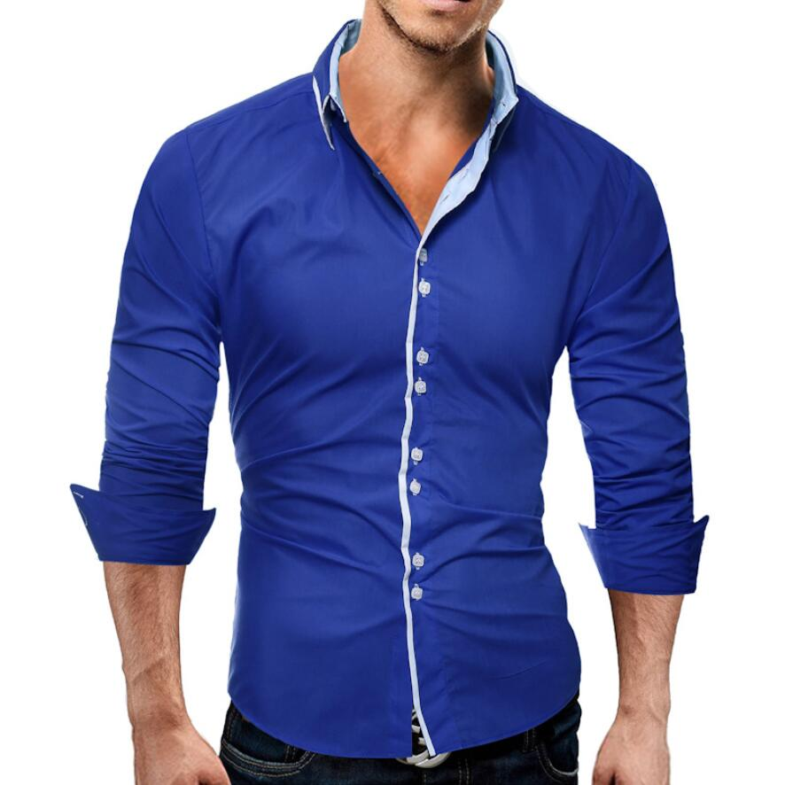 Men Casual Shirts 2018 High-Quality Brand Long Sleeve Shirt Double Button Funky Camisa M ...