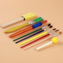 Набор кистей для рисования канцелярский подарок качество нейлоновая кисть ручки набор школы искусства набор для детей товары для рукоделия 9 шт./компл