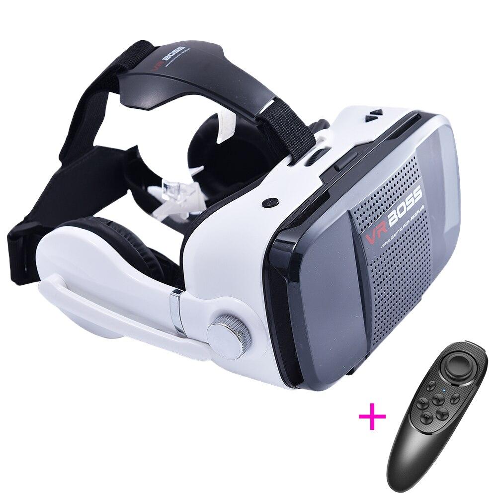 """Z5 3D <font><b>VR</b></font> <font><b>Boss</b></font> BOX <font><b>Virtual</b></font> <font><b>Reality</b></font> Video Game <font><b>Glasses</b></font> Gooogle Cardboard <font><b>Earphone</b></font> Head Mount Helmet Case For 4.0-6.3"""" iOS Android"""