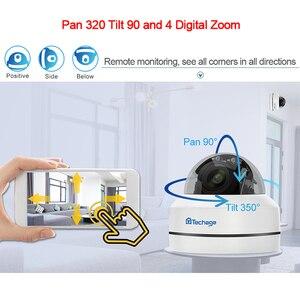 Image 2 - Techage 1080P 4X Zoom PTZ POE IP Camera Mini Speed Dome Âm Thanh Chống Nước 2MP Camera Quan Sát An Ninh P2P Onvif video POE Giám Sát