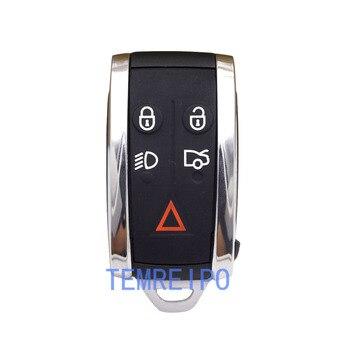 5pcs/lot 5 Buttons Uncut Brass Blade Modified Remote Blank Key Shell for JAGUAR XF XK XKR X-Type S-Type Remote Key