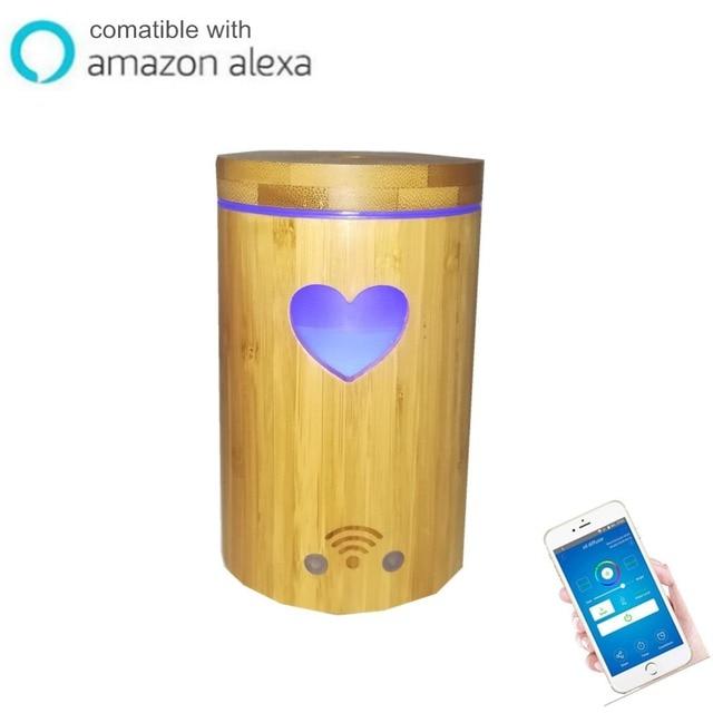 Envío Gratis 160 ml APP control de voz difusor de aromaterapia multi función Alexa google humidificador inteligente mini aparato electrodoméstico
