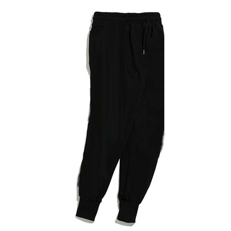 Hip Hop Pants Women Spring Cotton Pencil Pants Hip Hop Trouser Black