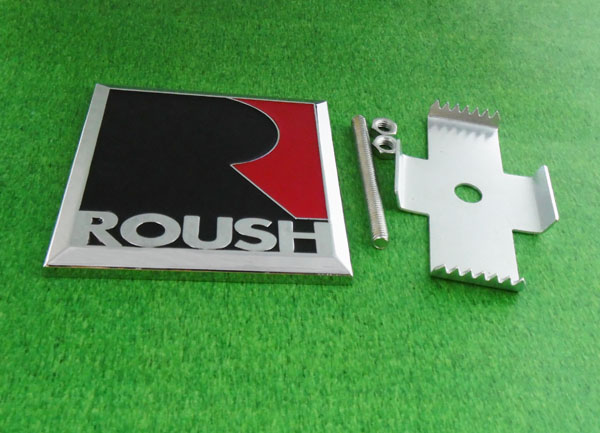 Auto car Square R Roush for 2005-2014 Mustang Front Grill Grille Badge Emblem auto car chrome r sport for jaguar xf xe xkr xjr front grill grille badge emblem